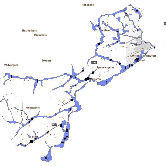 Zones inondables Comines